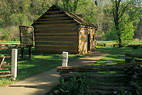 AJ4172, Abraham Lincoln, Kentucky, Knob Creek Farm, Abraham Lincoln's boyhood home in Hodgenville in the state of Kentucky.