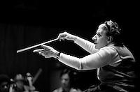 Antonia Brico conducting at Kresge Auditorium MIT Cambridge MA 3.25.77