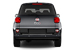 Straight rear view of 2016 Fiat 500L Living Popstar 5 Door Mini MPV Rear View  stock images