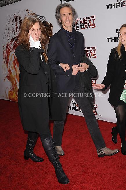 WWW.ACEPIXS.COM . . . . . .November 9, 2010...New York City...Patti Smith attends New York Special Screening of Lionsgate's New Film The Next Three Days at the Ziegfeld Theater on November 9, 2010 in New York City....Please byline: KRISTIN CALLAHAN - ACEPIXS.COM.. . . . . . ..Ace Pictures, Inc: ..tel: (212) 243 8787 or (646) 769 0430..e-mail: info@acepixs.com..web: http://www.acepixs.com .