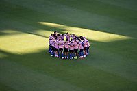 SAN JOSE, CA - JUNE 26: San Jose Earthquakes players before a game between Los Angeles Galaxy and San Jose Earthquakes at PayPal Park on June 26, 2021 in San Jose, California.