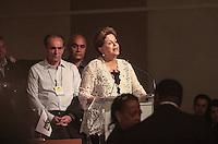 BRASÍLIA, DF 02 DE MARÇO 2013 - CONVENÇÃO NACIONAL DO PMDB EM BRASÍLIA.  A Presidente da Republica Dilma Rousseff durante convensão nacional do PMDB no Auditório do Centro Empresarial Brasil 21  em Brasilia neste sabado, 02.  FOTO RONALDO BRANDÃO/BRAZIL PHOTO PRESS
