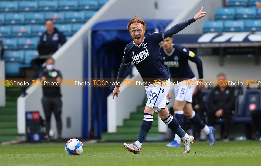 Ryan Woods of Millwall yells at his teammates to find space during Millwall vs Bristol City, Sky Bet EFL Championship Football at The Den on 1st May 2021