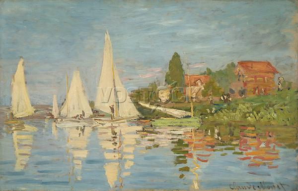 Claude Monet - Regatta at Argenteuil (1872). Paris, musee d'Orsay.