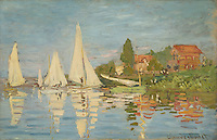 Claude Monet - Regatta at Argenteuil (1872). Paris, musee d'Orsay.