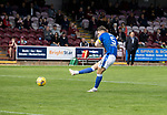 Arbroath v St Johnstone…15.08.21  Gayfield Park      Premier Sports Cup<br />Jason Kerr shoots wide in the penalty shootout<br />Picture by Graeme Hart.<br />Copyright Perthshire Picture Agency<br />Tel: 01738 623350  Mobile: 07990 594431