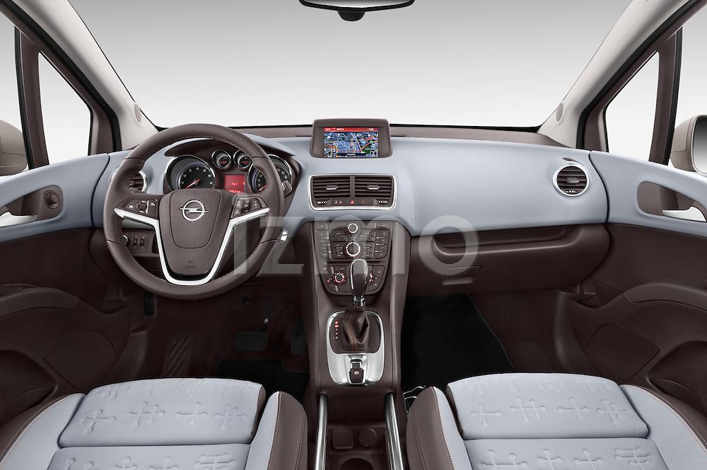 Stock photo of straight dashboard view of2014 Opel MERIVA Cosmo 5 Door Mini MPV 2WD Dashboard