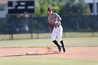 Dilan Rosario (43) of Leadership Christian Academy High School in Morovis, Puerto Rico during the Under Armour Baseball Factory National Showcase, Florida, presented by Baseball Factory on June 13, 2018 the Joe DiMaggio Sports Complex in Clearwater, Florida.  (Nathan Ray/Four Seam Images)