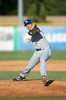 Bluefield Blue Jays relief pitcher Connor Eller (29) in action against the Burlington Royals at Burlington Athletic Stadium on June 26, 2016 in Burlington, North Carolina.  The Blue Jays defeated the Royals 4-3.  (Brian Westerholt/Four Seam Images)