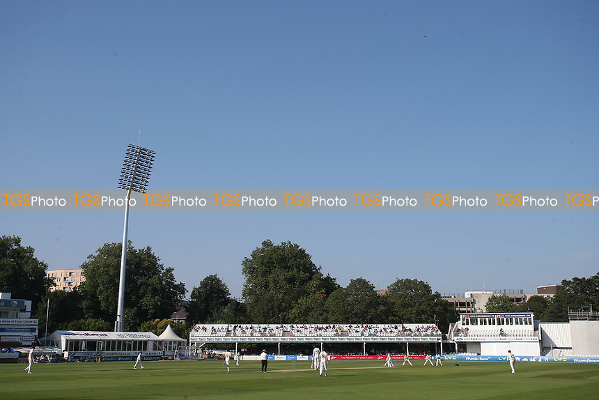 General view of play under blue skies during Essex CCC vs Gloucestershire CCC, LV Insurance County Championship Division 2 Cricket at The Cloudfm County Ground on 5th September 2021
