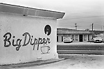 Dig Dipper and Dees Agape Love Burrito Shop, Snyder, Texas 1999. 1990s USA. Dig Dipper typical all American fast food resturant and the Christian cafe across the road selling typical Mexican fast food.  <br /> <br /> Agape, Greek agapē, in the New Testament, the fatherly love of God for humans, as well as the human reciprocal love for God. ... In Scripture, the transcendent agape love is the highest form of love and is contrasted with eros, or erotic love, and philia, or brotherly love.