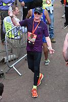 Chris Evans<br /> at the finish line on The Mall at the 2017 London Marathon, London. <br /> <br /> <br /> ©Ash Knotek  D3254  23/04/2017