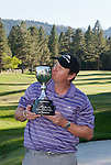 August 5, 2012:  J.J. Henry from Ft. Worth, TX kisses the trophy after winning the 2012 Reno-Tahoe Open Golf Tournament at Montreux Golf & Country Club in Reno, Nevada.