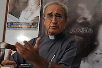 Lançamento da campanha da fraternidade 2008.<br /> <br /> Don José Luiz Azcona, Bispo da prelazia do Marajó durante entrevista .<br /> Belém, Pará, Brasil.<br /> Foto Paulo Santos<br /> 14/04/2008