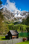 Italien, Suedtirol, Antholzer Tal, Seitental des Pustertals, der Antholzer See im Naturpark Rieserferner-Ahrn   Italy, South Tyrol, Valle di Anterselva, Lago di Anterselva at Rieserferner-Ahrn Nature Park
