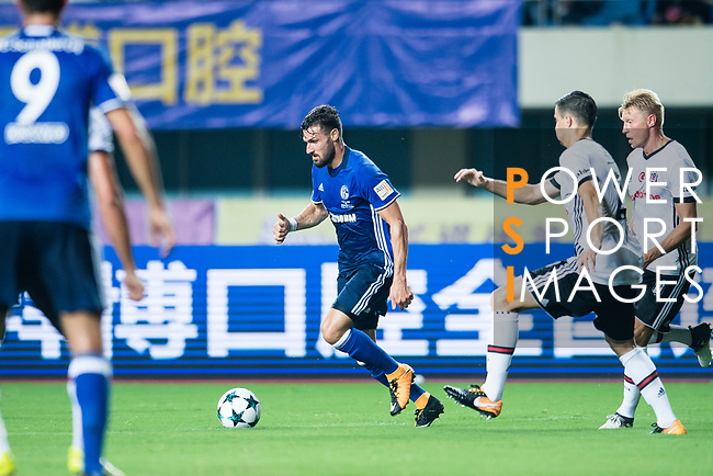 FC Schalke Midfielder Daniel Caligiuri (C) in action during the Friendly Football Matches Summer 2017 between FC Schalke 04 Vs Besiktas Istanbul at Zhuhai Sport Center Stadium on July 19, 2017 in Zhuhai, China. Photo by Marcio Rodrigo Machado / Power Sport Images