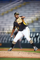 Bradenton Marauders relief pitcher Jose Regalado (51) during a game against the Palm Beach Cardinals on August 8, 2016 at McKechnie Field in Bradenton, Florida.  Bradenton defeated Palm Beach 5-4.  (Mike Janes/Four Seam Images)