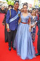 Jermaine Jackson et Maday Velazquez sur le tapis rouge pour la projection du film THE BEGUILED / LES PROIES lors du soixante-dixième (70ème) Festival du Film à Cannes, Palais des Festivals et des Congres, Cannes, Sud de la France, mercredi 24 mai 2017. Philippe FARJON / VISUAL Press Agency