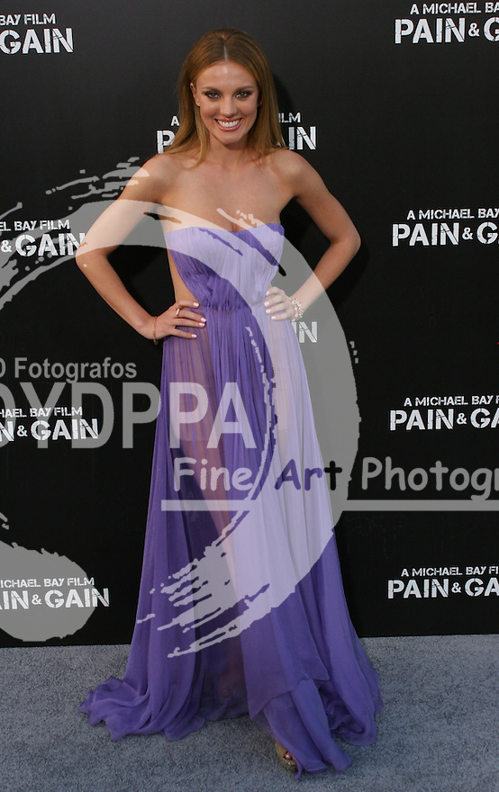 """Bar Paly.  Celebrities gathered at The TCL Chinese Theatre in Hollywood to attend the Los Angeles premiere of Paramount Picture's  PAIN & GAIN on April 22, 2013.<br /> Cast members and filmmakers attending include: Mark Wahlberg (Daniel Lugo), Dwayne Johnson (Paul Doyle), Michael Bay (Director), Anthony Mackie (Adrian Doorbal), Rebel Wilson (Robin Peck), Ed Harris (Ed Du Bois), Tony Shalhoub (Victor Kershaw), Rob Corddry (John Mese), Ken Jeong (Jonny Wu), Bar Paly (Sorina Luminita), Christopher Markus (Screenwriter), Stephen McFeely (Screenwriter), Donald DeLine (Producer)<br /> ABOUT PAIN & GAIN: <br /> From acclaimed director Michael Bay comes """"Pain & Gain,"""" a new action comedy starring Mark Wahlberg, Dwayne Johnson and Anthony Mackie. Based on the unbelievable true story of a group of personal trainers in 1990s Miami who, in pursuit of the American Dream, get caught up in a criminal enterprise that goes horribly wrong. Release Date:  April 26, 2013. Photo by Hilda Lazarte/ Unimedia/ DyD Fotografos"""