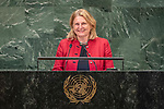 General Assembly Seventy-third session, 14th plenary meeting<br /> <br /> <br /> Her Excellency Karin KNEISSLFederal Minister for Europe, Integration and Foreign Affairs of Austria