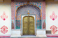 Decorated doorway at The City Palace, Jaipur