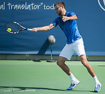 Jerzy Kanowicz (POL) loses to Alexandr Dolgopolov (UKR), 6-3. 3-6, 6-4 at the Western and Southern Open in Mason, OH on August 20, 2015.