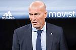 Real Madrid's coach Zinedine Zidane during Supercup of Spain 2nd match at Santiago Bernabeu Stadium in Madrid, Spain August 16, 2017. (ALTERPHOTOS/Borja B.Hojas)