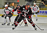 28 January 2012: Northeastern University Huskies' defenseman Anthony Bitetto, a Sophomore from Island Park, NY, in action against the University of Vermont Catamounts at Gutterson Fieldhouse in Burlington, Vermont. The Huskies defeated the Catamounts 4-2 in the second game of their 2-game Hockey East weekend series. Mandatory Credit: Ed Wolfstein Photo
