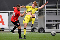 Adam Hillis of the Wellington Phoenix competes for the ball with Sean Liddicoat  of Canterbury United during the ISPS Handa Men's Premiership - Wellington Phoenix Reserves v Canterbury United at Fraser Park, Wellington on Saturday 9 January 2021.<br /> Copyright photo: Masanori Udagawa /  www.photosport.nz