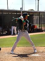 Junior Perez - Oakland Athletics 2021 spring training (Bill Mitchell)
