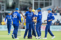 London Spirit prematurely celebrate the wicket of Alex Hales who is deemed not out during London Spirit Men vs Trent Rockets Men, The Hundred Cricket at Lord's Cricket Ground on 29th July 2021