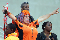 Holland fans in the stand before the game against Denmark.