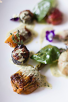 Europe/France/Auvergne/63/Puy de Dome/Clermont-Ferrand:  Petits légumes farcis, recette de  Benoît Piedpremier, restaurant: L'Ecureuil,
