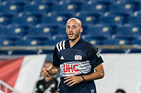 FOXBOROUGH, MA - AUGUST 7: Tiago Mendonca #33 of New England Revolution II during a game between Orlando City B and New England Revolution II at Gillette Stadium on August 7, 2020 in Foxborough, Massachusetts.