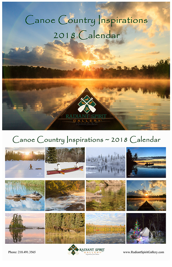 """Enjoy stunning photographs of the regions in all seasons. Includes holidays, special events, full/new moon phases, solstices, and full caption descriptions. Photographs were created by the award-winning husband and wife photography team of Gary L. Fiedler and Dawn M. LaPointe of Radiant Spirit Gallery. 12 month wall calendar measures 17"""" x 11"""" when hanging, 11"""" x 8.5"""" when folded; spiral bound and printed on heavy, glossy stock."""