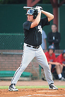Bristol White Sox first baseman Alex Williams #54 awaits a pitch during a game against the Elizabethton Twins at Joe O'Brien Field on June 25, 2012 in Elizabethton, Tennessee. The Twins defeated the White Sox 9-1. (Tony Farlow/Four Seam Images).
