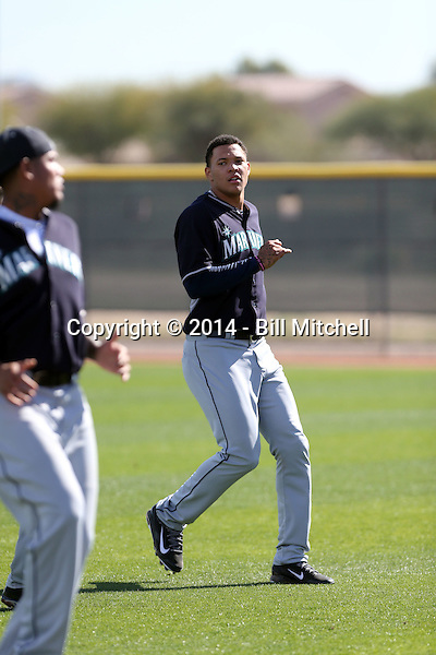 Taijuan Walker of the Seattle Mariners participates in the first day of spring training workouts at the Mariners complex on February 13, 2014 in Peoria, Arizona (Bill Mitchell)