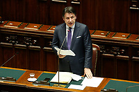 The Italian premier Giuseppe Conte during his speech about the European Council at the Chamber of Deputies. Rome (Italy), July 22nd 2020<br /> Foto Samantha Zucchi Insidefoto
