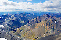 Shadows play across Alaska's Brooks Range mountains just south of the Coastal Plain in the Arctic National Wildlife Refuge.