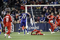 Davy Arnaud scores his second goal of the game. Toronto FC defeated Kansas City Wizards 3-2 at Community America Ballpark, Kansas City, Kansas. March 21, 2009.
