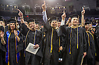 May 16, 2015; Master degree graduates sing the sing the Alma Mater after he Mendoza College of Business Graduate Business Diploma Ceremony at the Purcell Pavilion. Photo by Barbara Johnston/University of Notre Dame