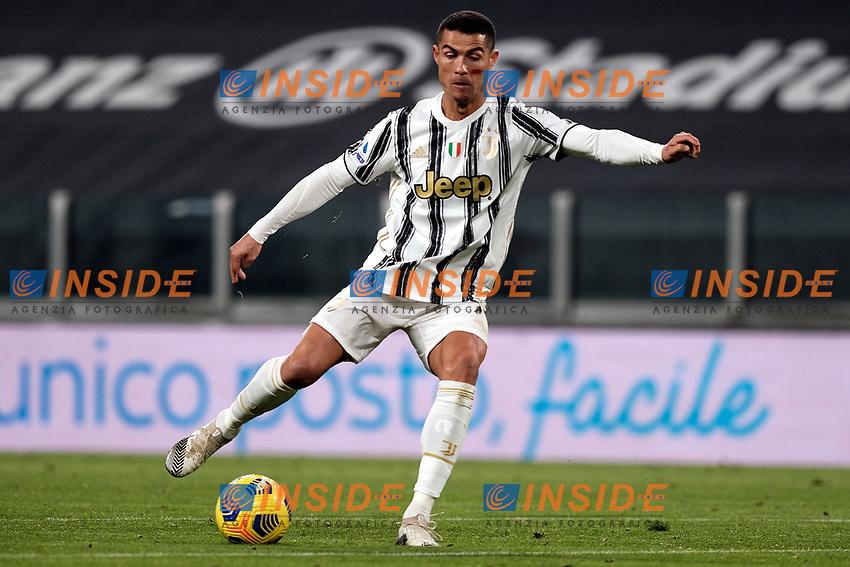 Cristiano Ronaldo of Juventus FC in action during the Serie A football match between Juventus FC and Cagliari Calcio at Allianz stadium in Torino (Italy), November21th, 2020. Photo Federico Tardito / Insidefoto