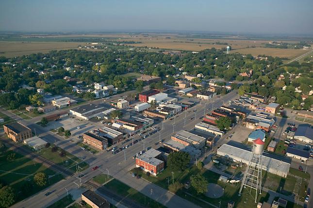 Main street of a farming town
