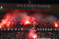 ambiance tribune supporters PSG fumigenes<br /> Parigi 18-9-2019 <br /> Paris Saint Germain - Real Madrid  <br /> Champions League 2018/2019<br /> Foto Panoramic / Insidefoto <br /> Italy Only