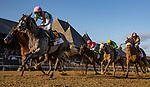 AUG 24: Ticitus with Jose Ortiz battle with Mucho Gusto in the Travers Stakes races at Saratoga Racecourse in New York on August 24, 2019. Evers/Eclipse Sportswire/CSM