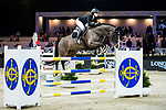 Reed Kessler of the USA riding KS Stakki  competes in the Masters One DBS during the Longines Masters of Hong Kong at AsiaWorld-Expo on 11 February 2018, in Hong Kong, Hong Kong. Photo by Ian Walton / Power Sport Images