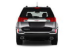 Straight rear view of 2017 GMC Terrain SLT 5 Door SUV Rear View  stock images