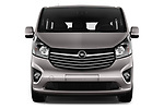 Car photography straight front view of a 2016 Opel Vivaro Business 4 Door Combi Front View