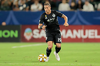 CARSON, CA - SEPTEMBER 15: Erik Hurtado #19 of Sporting Kansas City moves with the ball during a game between Sporting Kansas City and Los Angeles Galaxy at Dignity Health Sports Complex on September 15, 2019 in Carson, California.