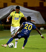 BUCARAMANGA - COLOMBIA, 22-10-2020: Atletico Bucaramanga y Alianza Petrolera durante partido de la 3ra ronda clasificacion ida por la Copa BetPlay DIMAYOR 2020 en el estadio Alfonso Lopez de la ciudad de Bucaramanga. / Atletico Bucaramanga and Alianza Petrolera during a match 3rd round qualifying first leg for the BetPlay DIMAYOR Cup 2020 at the Alfonso Lopez stadium in Bucaramanga city. / Photo: VizzorImage / Jaime Moreno / Cont.